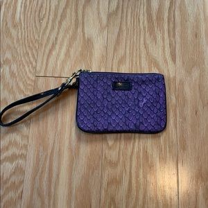 Coach purple snakeskin wristlet